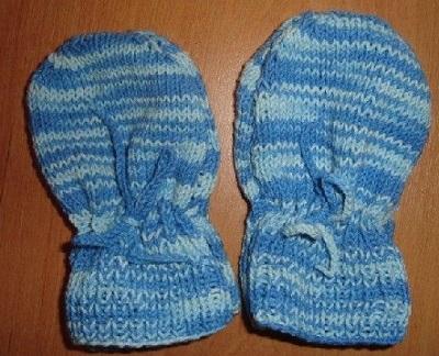 modré rukavičky