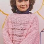 Mohérový pulovr s vypletenou lacetkou