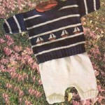 Letní svetřík s lodičkami a bílé kalhotky