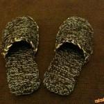 Pletené pánské pantofle