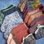 Papučky pletené zo zvyškov