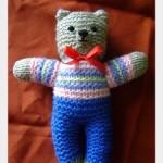 Pletený medvedík