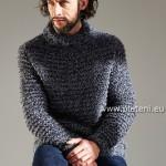 Vroubkovaný pulovr Expression