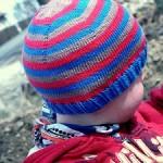 Čapka pletená shora dolů