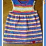 Dětské šaty z příze Sweet Baby