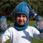 Dětská kukla a rukavice