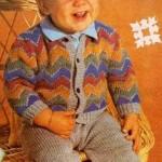Chlapecká souprava – kabátek a kamaše