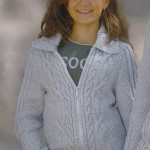 Dívčí vzorovaná vesta se zipem