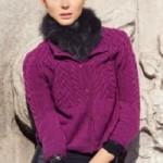 Fialový svetřík Merino