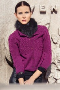 df6ef5acf274 Dámský pletený svetřík. Návod na ručně pletený dámský zapínací svetřík pro  velikosti 36