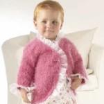 Dětský růžový kabátek Fabia