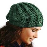 Bavlněná čepička pletená pružným vzorem