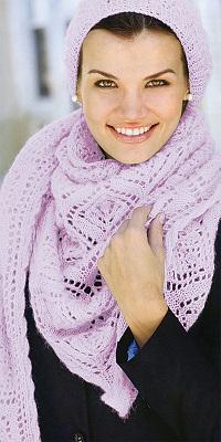 šátek a čepice