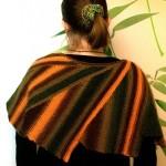Cípatý vroubkovaný šátek