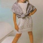 Krajkové šaty z příze Sněhurka