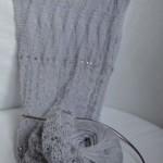 Pletená krajková šála