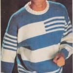 Pánský modrobílý pulovr