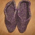 Pletené papuče podle Alenky