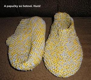 590a7680f Pletené papučky – PLETENÍ – NÁVODY