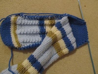 ponožky na 2 jehlicích2