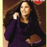 Fialový copanový pulovr Fina