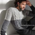 Šedo-šedý svetr Irish Tweed