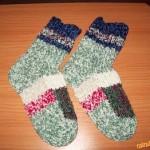 Ponožky na dvou jehlicích podle paní Zuzany