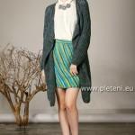 Kabát Delgada a sukně Step