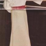 Hladká bílá sukně
