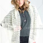 Trojúhelníkový mohérový šátek