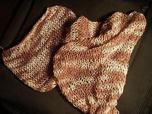 Páraná šála. Návod na ručně pletenou šálu individuální velikosti. Model je  pletený přízí Kája (zn. Jan Rejda) na jehlicích č. 3 cc4cec5ab2