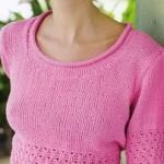 Růžové triko Simplicity