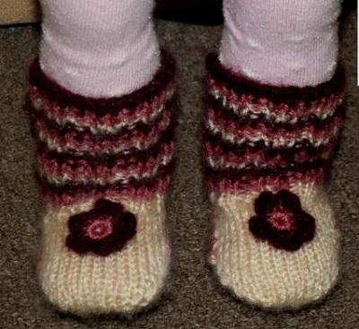 ponožky na 2 ihliciach