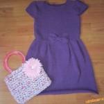 Dětské fialové šaty s mašličkou