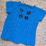 Dětský retro svetřík s copánky