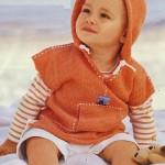 Oranžový pulundr s kapucí
