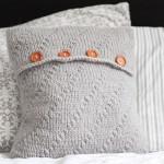 Pletený polštář z příze Geisha