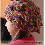Volně pletený baret