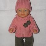 Růžový svetřík pro panenku BABY BORN