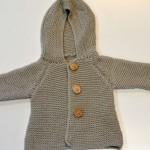 Novorodenecký kabátik s kapucňou