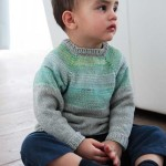 Modrošedý raglánový svetřík