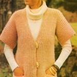 Kabátek pletený pružným vzorem