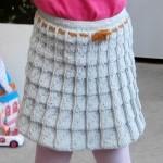 Sukýnka pletená kostkovým vzorem