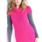 Dlouhý svetr s krátkými rukávy