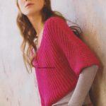 Krátký polopatentový pulovr
