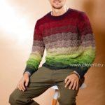 Pánský svetr z příze Merino Lace EXP
