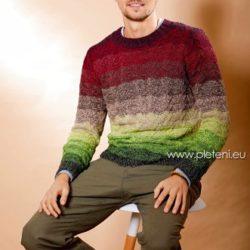 Pánský svetr z příze Merino Lace EXP d03d263cda