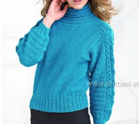 Petrol pulovr Merino 160