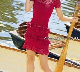 Šaty s volánky z příze Bio Cotton