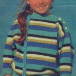 Dievčenský bavlnený pulóvrik
